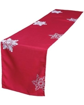 """The Holiday Aisle Christmas Embroidered with Snowflakes Table Runner THLA3498 Size: 72"""" L x 15"""" W"""