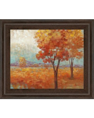 """Classy Art Wholesalers Distant Mountain II by Nan Framed Painting Print, Paper in Brown/Yellow/Blue, Size Small 18""""-24"""" 