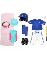 "Kindred Hearts Dolls 18"" Baseball + Swimming Set (Amazon Exclusive)"