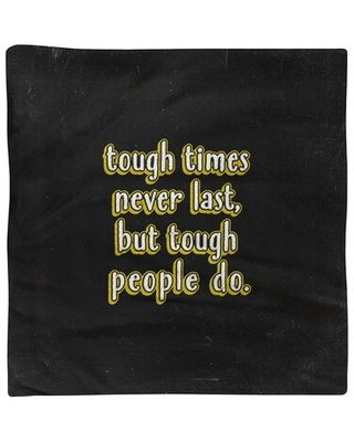 """Tough Times Quote Chalkboard Napkin East Urban Home Color: Yellow, Size: 22"""" L x 22"""" W, Material: Polyester"""