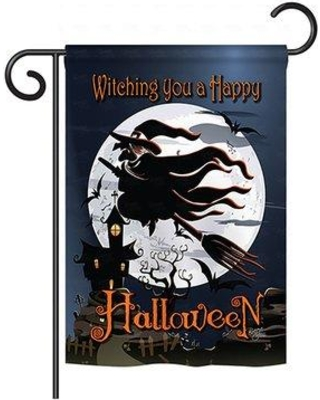 "Breeze Decor Happy Witching You 2-Sided Vertical Flag 62004 Size: 40"" H x 28"" W"