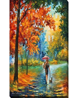 """Picture Perfect International """"Intriguing Autumn"""" by Leonid Afremov Painting Print on Wrapped Canvas 704-0713 Size: 40"""" H x 24"""" W x 1"""" D"""