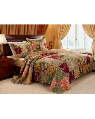 Greenland Home Fashions Antique Chic 3-Piece Multi King Quilt Set