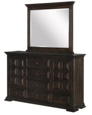 Avondale Collection AV401-DR Dresser with 6 Drawers and 2 Storage Cabinets in Espresso