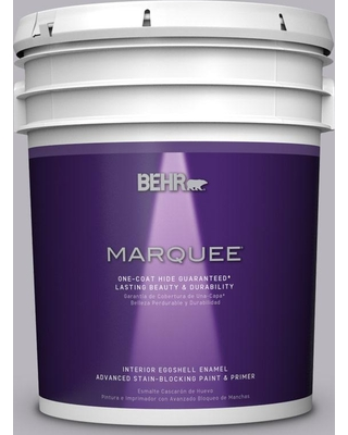 BEHR MARQUEE BEHR MARQUEE 5 gal  #N550-3 Best in Show One-Coat Hide  Eggshell Enamel Interior Paint and Primer in One from Home Depot | Real  Simple
