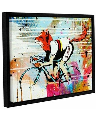 """Wrought Studio 'Le Fox' Framed Graphic Art Print on Canvas WSLH3123 Size: 36"""" H x 48"""" W x 2"""" D"""