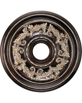 Livex Lighting Ceiling Medallion in Hand Rubbed Bronze with Antique Silver Accents 8200-40 / 8210-40 / 8211-40 Size: Small