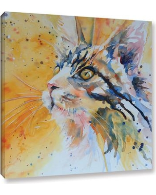 """Latitude Run Cat 9 Painting Print on Wrapped Canvas LTRN6727 Size: 10"""" H x 10"""" W x 2"""" D"""
