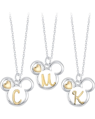 Mickey Mouse Icon with Initial Necklace Official shopDisney