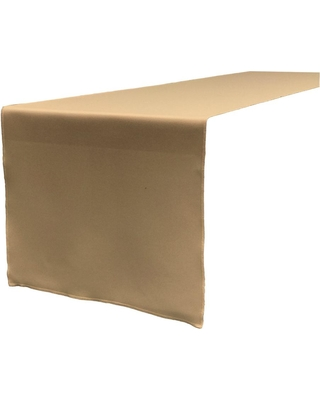 LA Linen 14 in. x 108 in. Taupe Polyester Poplin Table Runner, Brown