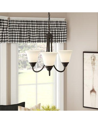 Charlton Home® Eichelberger 3-Light Shaded Classic / Traditional Chandelier DISI3610 Finish: Oil Rubbed Bronze