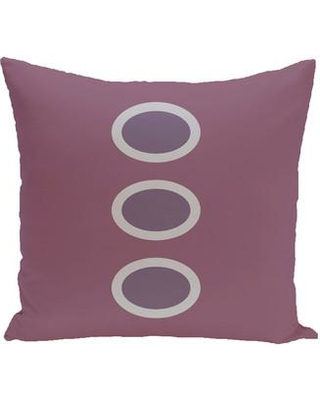 """Bungalow Rose Katrina Geometric Throw Pillow BNGL6441 Size: 26"""" H x 26"""" W Color: Green / Green"""