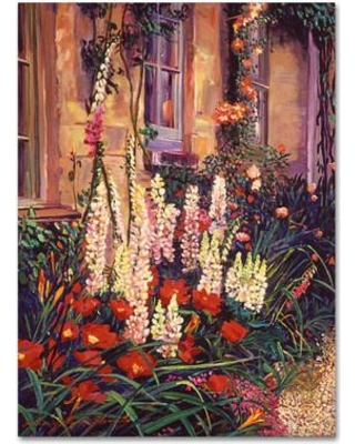 Trademark Art English Cottage Garden By David Lloyd Glover Painting Print On Wrapped Canvas