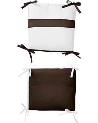 Baby Doll Bedding Junior Rocking Chair Cushion Pad Set for Child/Toddler Rocker, Chocolate Brown