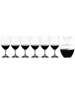 Riedel® Ouverture 6-Piece Magnum Wine Glass Set with Apple Decanter