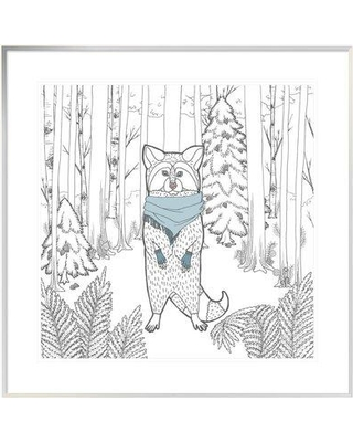 """East Urban Home 'Color the Forest Color II' Graphic Art Print on Canvas ETUM7814 Size: 24"""" H x 24"""" W Matte Color: White Format: White Framed Canvas"""