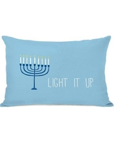 The Holiday Aisle Light It Up Lumbar Pillow THLY3246