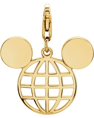 Mickey Mouse Globe Icon Charm Official shopDisney