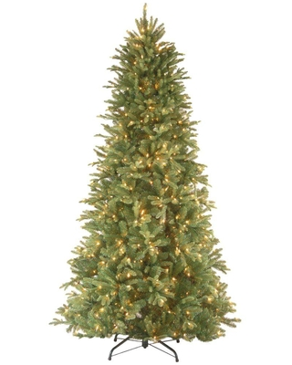 National Tree Company 6.5 ft. Tiffany Fir Slim Artificial Christmas Tree with Clear Lights