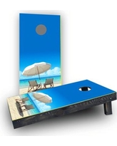 Custom Cornhole Boards Beach Light Weight Cornhole Game Set CCB60-AW / CCB60-C Bag Fill: Whole Kernel Resin Corn