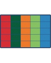Carpets for Kids Premium Collection Colorful Rows Seating Area Rug 4025