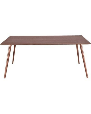 m.a.d. Furniture Airfoil Dining Table G28 Base Finish: White Top Finish: American Ash