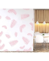 Palm Fronds Wall Decal, Soft Pink
