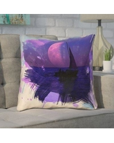 """Brayden Studio Houck Contemporary Watercolor Moon and Sailboat Square Throw Pillow BYST3678 Size: 20"""" H x 20"""" W"""