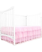 """Tadpoles Tulle Triple Layer Bedskirt 16"""" Bed Skirt ADRQTL0 Color: Pink"""