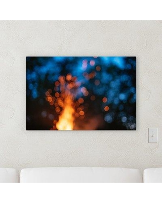 "Ebern Designs 'Blurred Out (216)' Graphic Art Print on Canvas BF107323 Size: 36"" H x 36"" W x 2"" D"