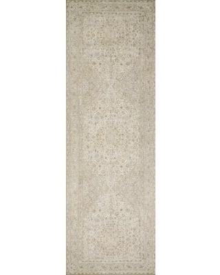 "Oriental Raul Sand/Taupe Area Rug  Rug Size: Runner 2'6"" x 7'6"""