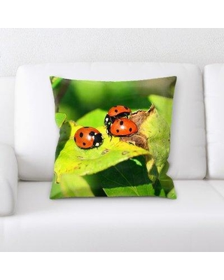 East Urban Home Ladybird Throw Pillow W000641243