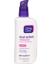 Clean & Clear Dual Action Moisturizer Oil Free- 4 Oz