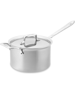 All-Clad d5 Brushed Stainless-Steel Saucepan, 4-Qt.