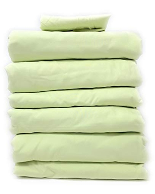 Tache Home Fashion 202-SG-BSS-CK-4 Super Soft Bed Sheet Sets Bulk Wholesale Motel Hotel Hospitality Dorm Guest Bedroom Basic Bed Linens, Cal King, Green, 4 Packages, 202-SG-BSS-CK-6
