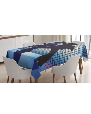 """70S Party Tablecloth East Urban Home Size: 90"""" L x 60"""" W"""