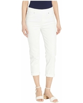 Liverpool Chloe Pull-On Crop Rolled Cuff in Bright White