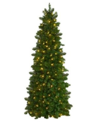 Easy Treezy 5.5-Foot Pre-Lit Natural Fir Easy Setup Artificial Christmas Tree in Green