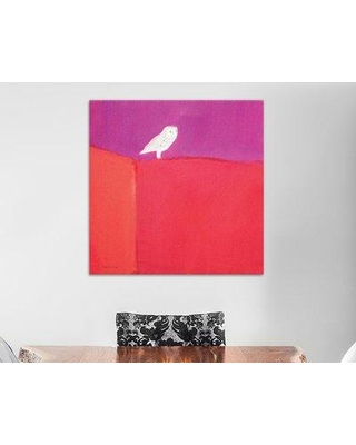 "East Urban Home 'Owl' Painting Print on Wrapped Canvas ESTN6131 Size: 37"" H x 37"" W x 1.5"" D"