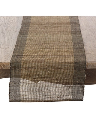 """SARO LIFESTYLE Natural Color Woven Nubby Table Runner, 14""""x72"""", Oblong"""