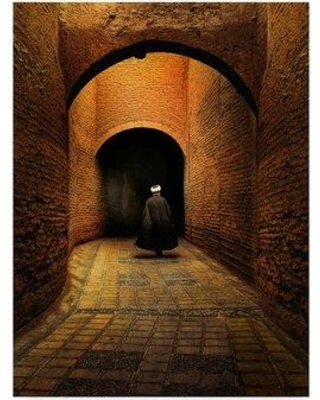 """Trademark Fine Art 'Walking Stone Alley' Photographic Print on Wrapped Canvas 1X07276-C Size: 24"""" H x 18"""" W x 2"""" D"""