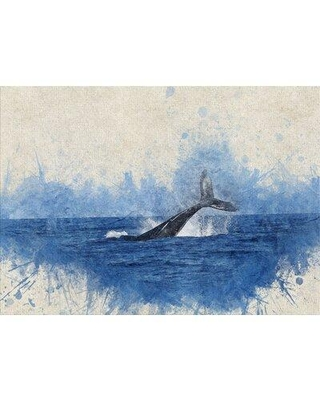 East Urban Home Whale Blue Area Rug X113213849 Rug Size: Rectangle 2' x 4'
