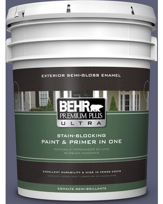 Shopping Special For Behr Ultra 5 Gal S560 6 Blue Blood Semi Gloss Enamel Exterior Paint And Primer In One
