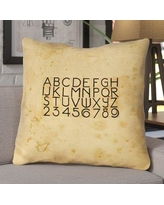 17 Stories Daniyar Vintage Typography Square Euro Pillow with Zipper STSS5457