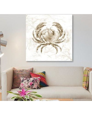 "East Urban Home 'Soft Marble Coast Crab' Graphic Art Print on Canvas ESUH5613 Size: 48"" H x 48"" W x 1.5"" D"