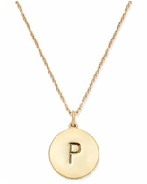 """Kate Spade New York 12k Gold-Plated Initials Pendant Necklace, 17"""" + 3"""" Extender - P"""