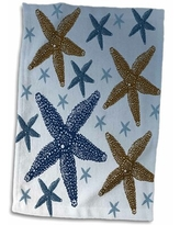 Amazing Deal On Lubbers Two Big Starfish Beach Themed Art Hand Towel Symple Stuff