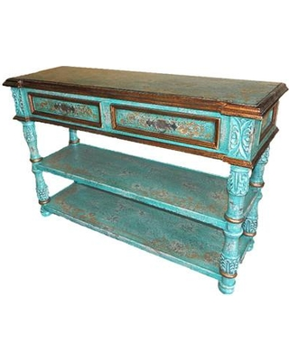New World Trading Valencia Console Table NTA1070 Color: Teal