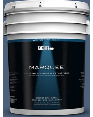 BEHR MARQUEE 5 gal. #590F-6 Mesmerize Satin Enamel Exterior Paint and Primer in One