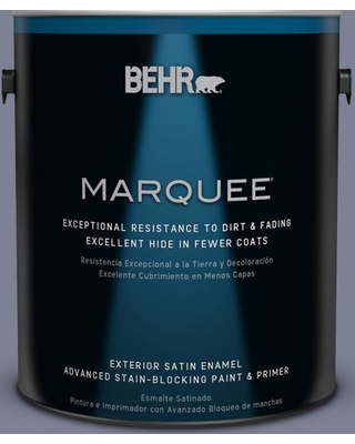 BEHR MARQUEE 1 gal. #610F-6 Deep Smoke Signal Satin Enamel Exterior Paint and Primer in One